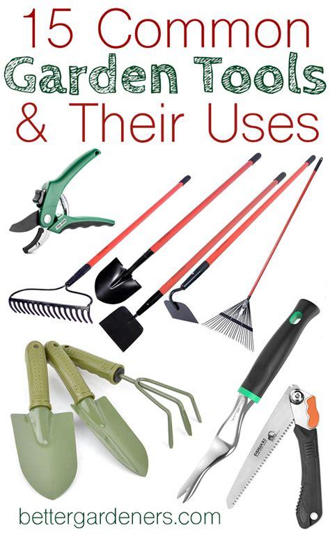 common gardening tools     gardener