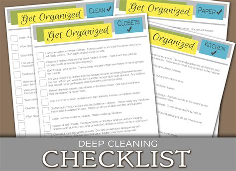 deep cleaning house checklist organize archives darling doodles