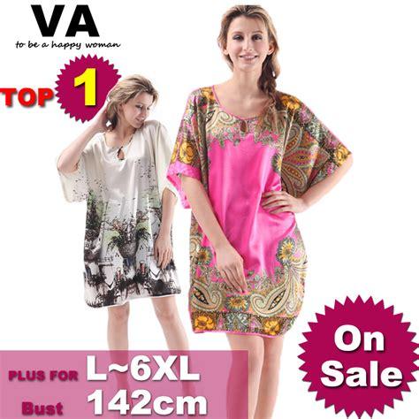 Dress Jumbo Big Size Ukuran Besar M Xxxxxxl Kode 1119 aliexpress buy va big large plus size silk robe nightgowns womens gowns stain sleepwear