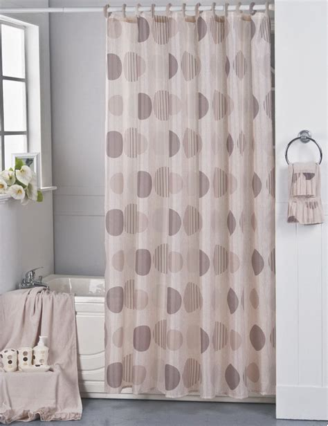 brown mosaic shower curtain mosaic extra long shower curtain design in brown bathroom
