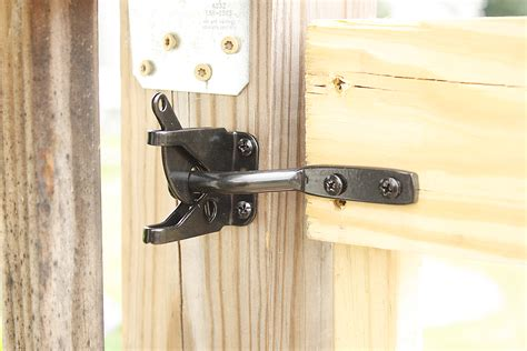 backyard gate lock deck stair gate latch install