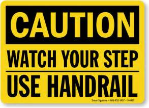 Stairway Storage watch your step signs and labels best prices from