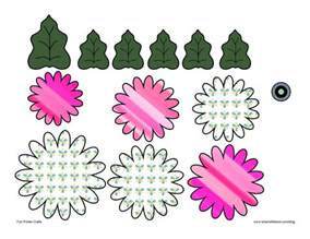 Paper Flower Template 3d by Free Paper Flower Printable Patterns New Calendar