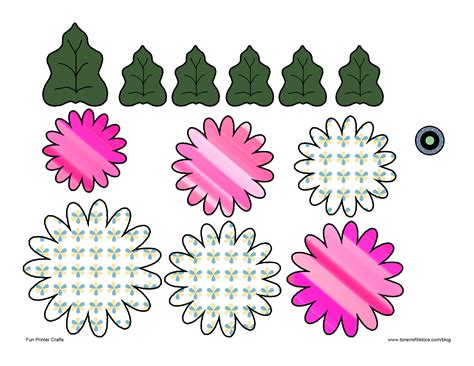 paper flower cut out template 7 best images of 3d flowers templates printables paper