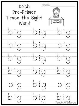 Pre K Worksheets Pdf by Dolch Pre Primer Trace The Word Printable Worksheets In A