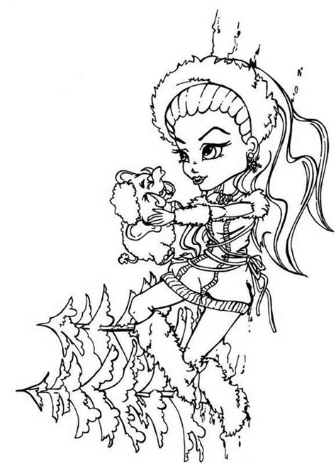 monster high coloring pages baby abbey bominable abbey bominable monster high coloring page abbey