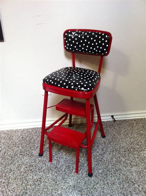 Kitchen Chair Step Stool by Redo On Retro Kitchen Step Stool Chair In And Black