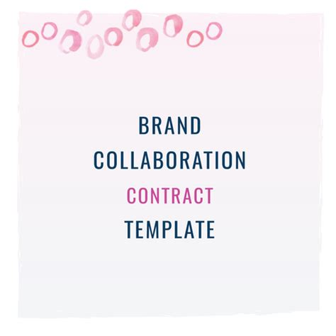 collaboration contract template brand collaboration contract template contract templates