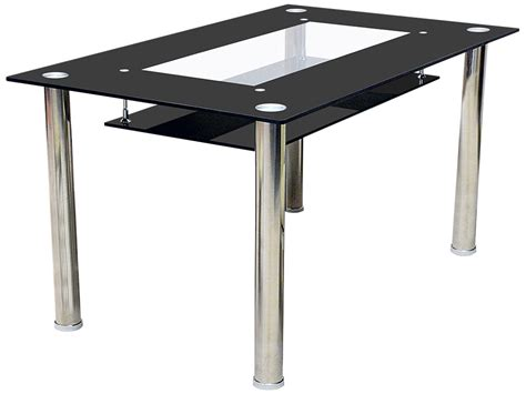 glass and chrome dining table chrome glass dining table small large ebay