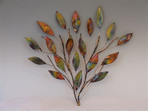 copper branch sculpture metal sculpture home decor wall