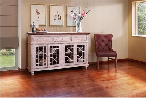 international furniture direct 900 antique vintage white 70 quot console great american home store