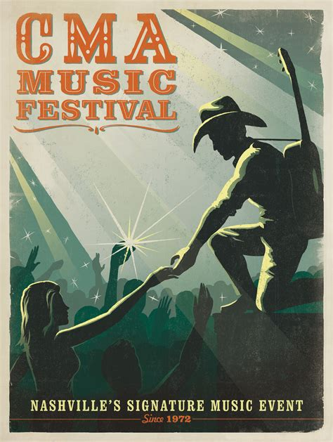 country music festival nashville schedule spirit of cma music festival captured in new poster