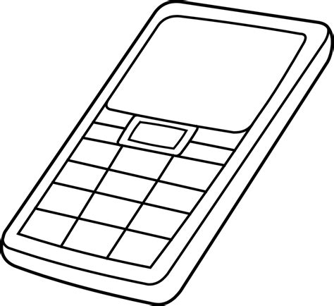 cell phone coloring pages coloring home