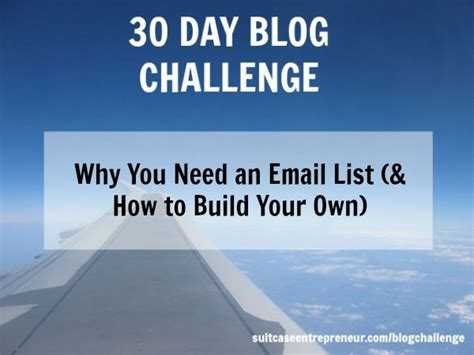 Why You Need To Own Day 15 Why You Need An Email List And How To Build Your