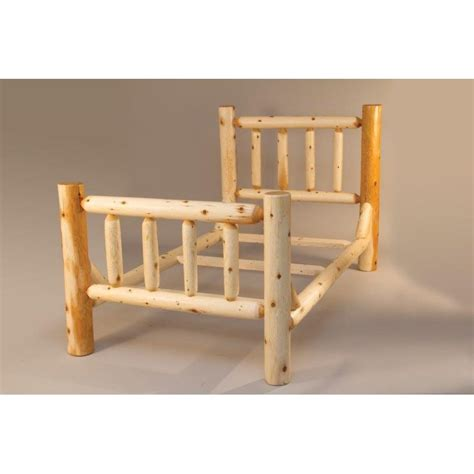 cedar beds white cedar log mission style single rail bed