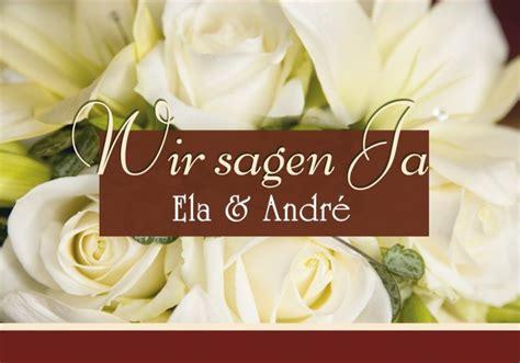 Klappkarte Hochzeit by Klappkarte Hochzeit Einladungskarte Din A5 Din A6 Quer
