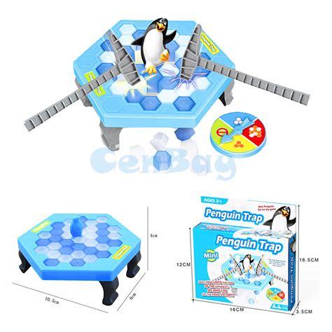 Breaking Save The Penguin mini penguin trap interactive indoor board breaking save the penguin parent child table