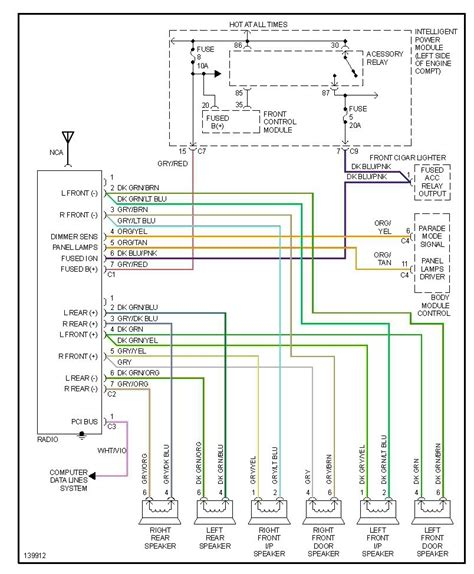2000 dodge ram radio wiring diagram wiring diagrams