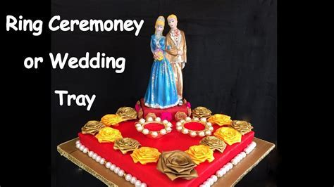 DIY   How to make decorative ring ceremoney/ wedding tray