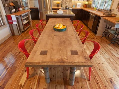 build  reclaimed wood dining table  tos diy