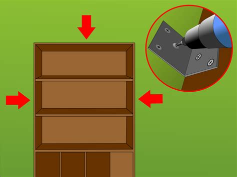 attach bookcase to wall how to secure a bookcase to a wall 15 steps with pictures