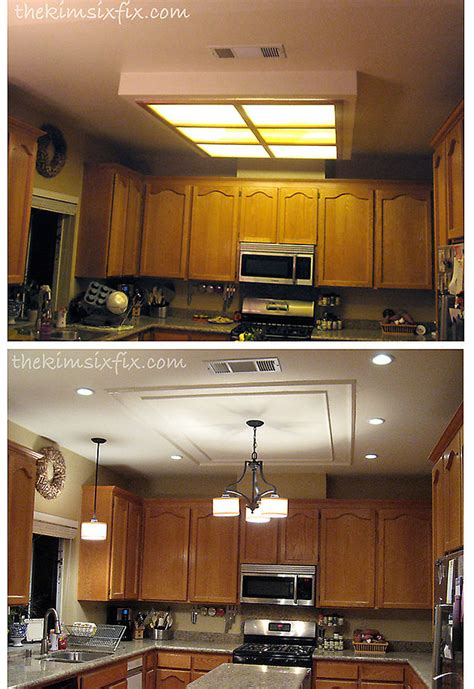 hometalk replacing updating fluorescent ceiling box