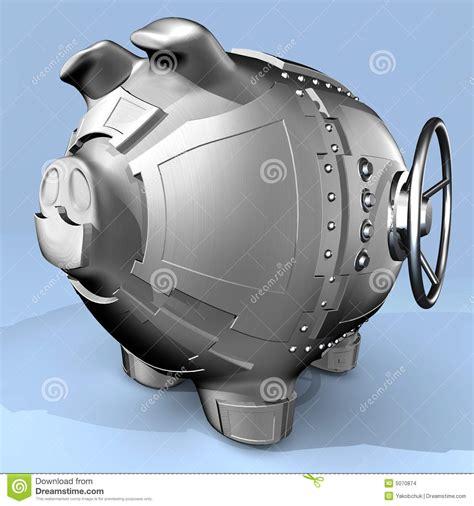 steel piggy bank steel piggy bank stock images image 5070874