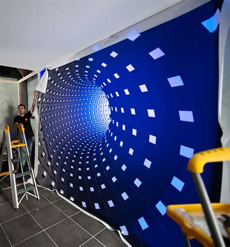 New York Home Decor Stores mur tendu avec 233 clairage led multicouleur espace film s