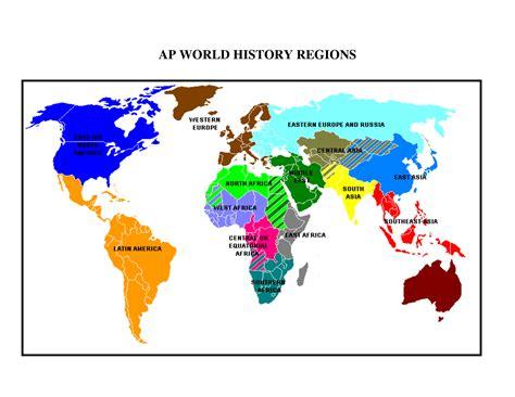 regions of the world map ap world history www pixshark