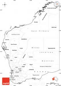 map of western blank simple map of western australia