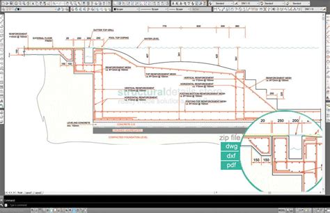 swimming pool detail section swimming pool collection of construction details