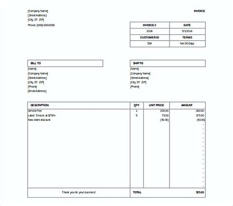 simple invoice template docs simple invoice template word