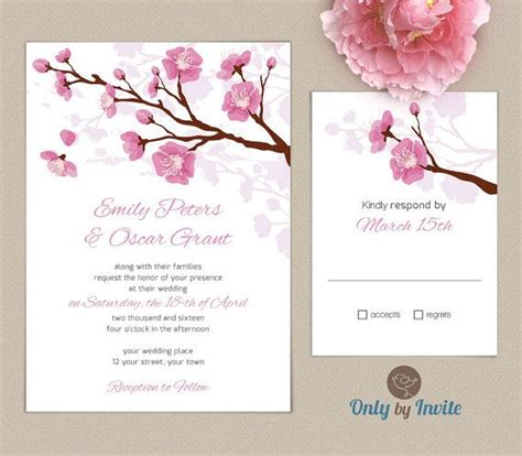 cherry blossom tree card template best 25 garden wedding invitations ideas on