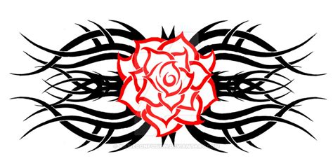tribal rose 2 by katieconfusion on deviantart