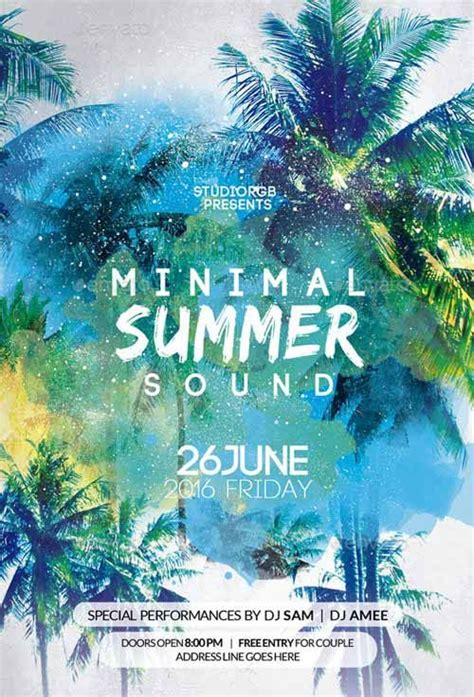 summer c flyer template free 25 best ideas about summer poster on tropical design island theme and