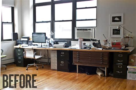 Ekby Alex Kitchen a sharp office makeover complete with a diy retractable