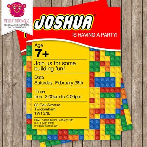lego party invitations lego party invitations for the