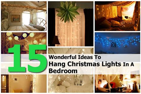 15 wonderful ideas to hang christmas lights in a bedroom