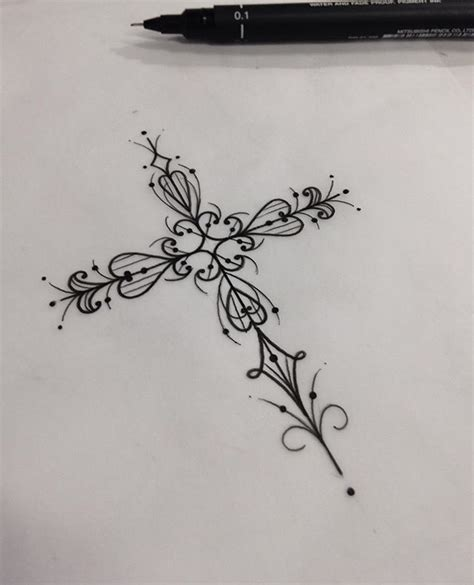 french cross tattoos best 25 pretty cross ideas on feminine