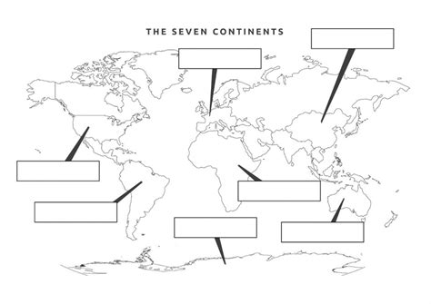 printable world map to label continents 7 continents outline map www pixshark com images