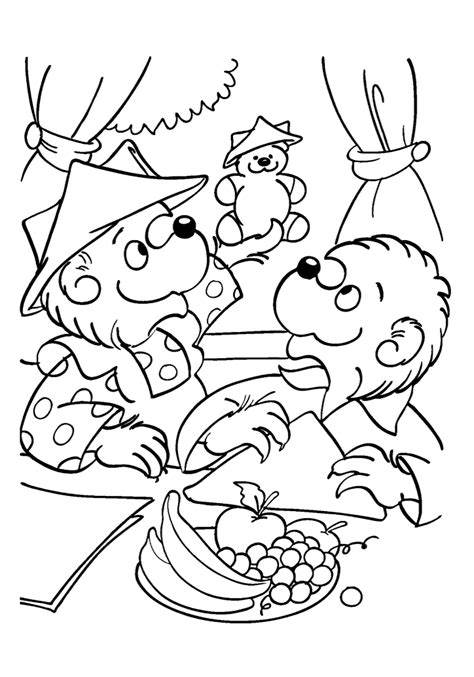 sister bear coloring page the berenstain bears coloring pages coloring home