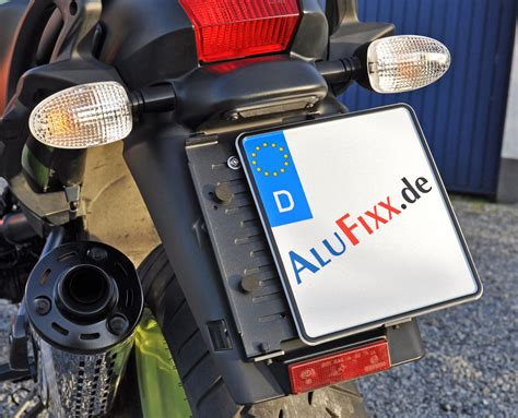 Kennzeichenhalter Motorrad by Alufixx Bike Rahmenloser Motorrad Kennzeichenhalter