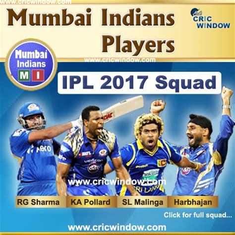 ipl 2017 mumbai team players ipl10 dd vs mi live preview match 24 ipl 2017 match