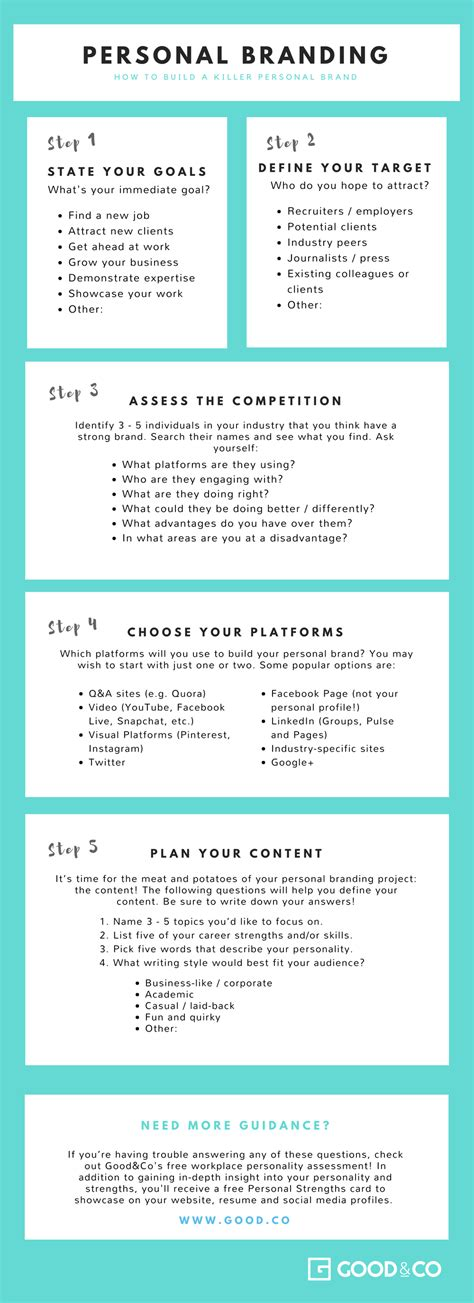 Personal Branding Worksheet by How To Create A Winning Personal Brand Free Worksheet