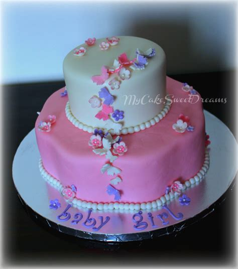 Baby Shower Cakes With Butterflies by Butterfly And Flower Baby Shower Cakes Www Pixshark