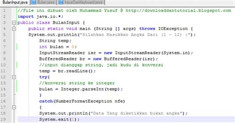 java tutorial keyboard input input angka dari keyboard aplikasi java download