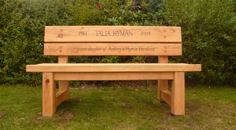 bench memorial the stapeley memorial bench engraved benches