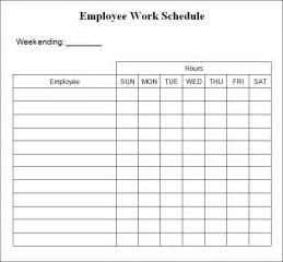 Weekly work schedule template 4 free word excel documents download