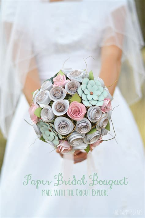 How To Make Paper Bouquets For Weddings - diy paper bridal bouquet the happy scraps