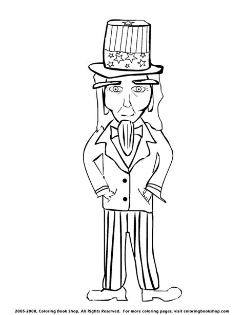 coloring page uncle sam uncle sam coloring pages 521 jpg az coloring pages